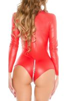 Sexy 2 Way Zip Body Red