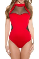Trendy Koucla Body with refined cut Red