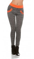Trendy workout pants with pockets Neoncoral