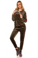 Trendy Nicky Jogging Set Khaki
