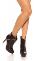 Sexy Stilett Ankle Boots Black