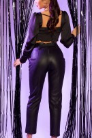 Sexy Leatherlook pants with belt Black