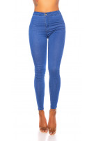 Sexy high waist jeggings Blue