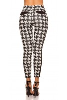 Sexy trousers in houndstooth pattern Blackwhite