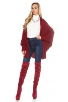 Oversize knitted cardigan Bordeaux