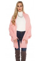 Oversize knitted cardigan Salmon