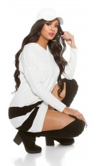 Hooded Sweater Oversized White