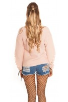 Trendy KouCla chunky knit jumper ExTreme Used Rose