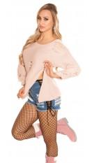Trendy KouCla chunky knit jumper ExTreme Used Rose