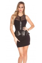 Sexy KouCla minidress with peplum Black