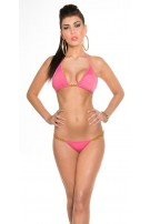 Sexy Bikini with chainstraps Fuchsia