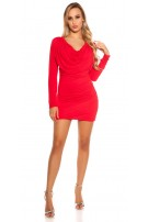 Sexy KouCla minidress, backfree w. rhinestones Red