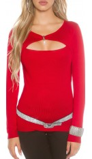 Sexy Koucla-2 in1 pullover w. insight Red