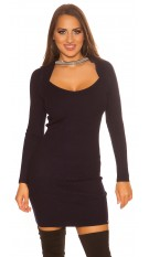 Sexy KouCla 2in1 Bolero knit dress with decors Navy