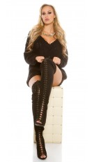 Sexy overknee- boots KylieJ. Style in suede optic Black