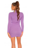 Sexy high neck knitted dress Lilac