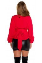 Sexy Wrap Blouse It S UP2 U Red