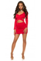 Sexy KouCla Party-MiniDress in KylieJ. Look Red