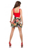Sexy KouCla summerdress with cut outs & flowers Red