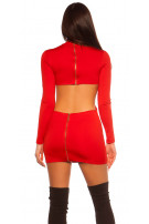 Sexy KouCla dress w XXL eyelets & WOW back Red