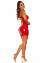Sexy KouCla latex look minidress Red