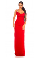 Sexy KouClaMaxi evening gown with WOW!back cutout Red