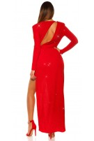 Sexy Red-Carpet Koucla eveing gown w.shoulder pads Redsilver