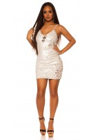 Sexy Mini-Partydress with sequins White