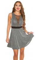 Sexy KouCla dress with mesh sexy decollete Grey
