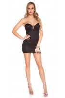 Sexy KouCla minidress with lace and stones Black