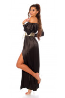Sexy Koucla Satin-Look Maxidress Black