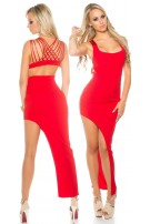 Partydress asymmetrical Red