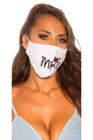 Trendy washable Mask  White