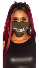 Trendy wasbaar gezicht mond masker F**K Codid 19 camouflage