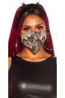 Trendy washable Mask with print Red