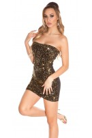 Sexy KouCla Party-minidress with sequins Blackgoldsequins