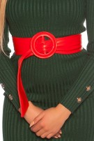 Trendy leatherette waist belt Red