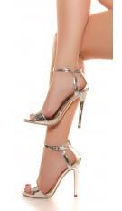High Heel sandaletten Zilver
