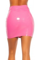 Sexy Latex Look Mini skirt Fuchsia
