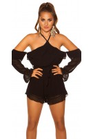 Sexy Playsuit with belt Black