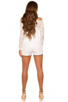 b7a60c6ccda Sexy longsleeve jumpsuit with lace White - ai0000OV20991-2 by ...