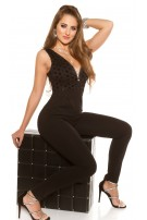 Sexy party jumpsuit with sequins Black