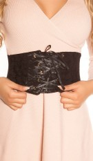 Sexy waist belt in corsage look Black