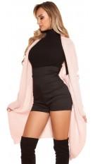 Trendy KouCla cardigan XL collar Pink