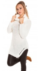 Trendy KouCla turtleneck sweater White