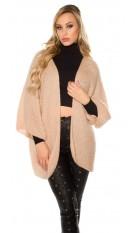 Trendy XXL loose knit jacket Antiquepink