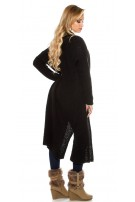 Trendy Boucle mohair cardigan Black
