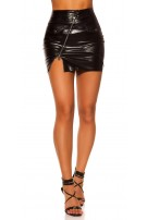 Sexy Leather Skirt Black