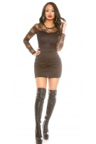 Sexy Party-minidress with lace Black