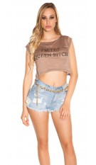 Sexy KouCla Crop Shirt
